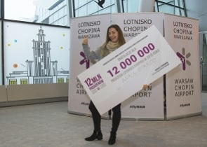 Chopin Airport handled its 12-millionth passenger